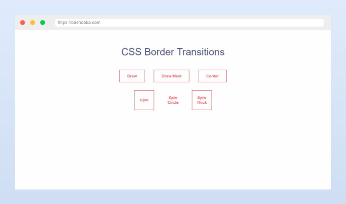 CSS Border transitions