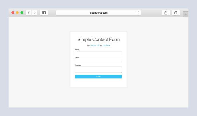 Simple Skeleton Contact Form