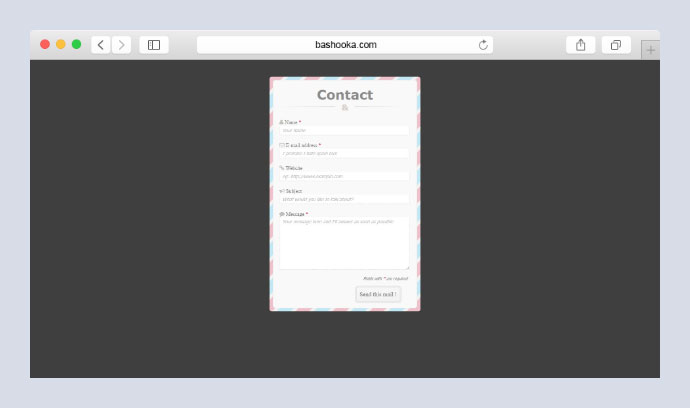 CSS3 Contact Form