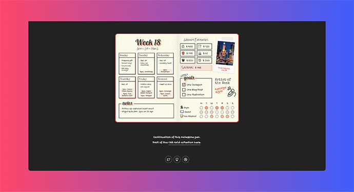 CSS Grid: Bullet Journal