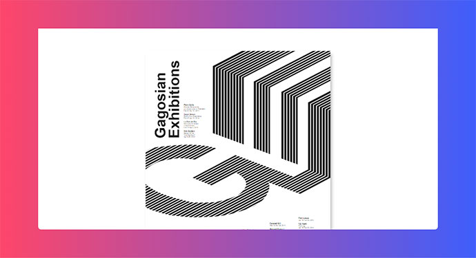 CSS Grid Poster #3 | Gagosian Exhibitions