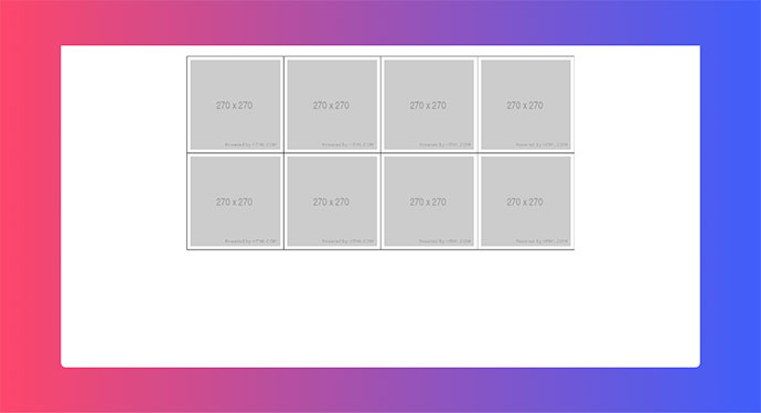 CSS Layout Grid (display: grid) 1px Border