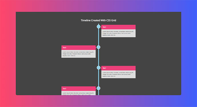 Responsive Timeline using CSS Grid & Grid Template Areas
