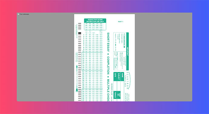 Scantron Answer Sheet (CSS grid demo)