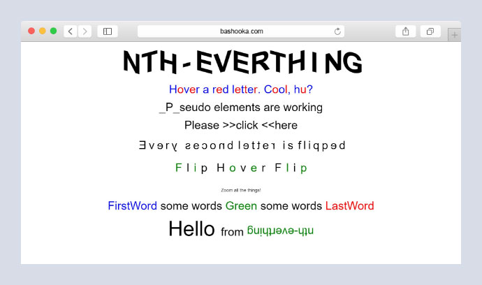 nth-everything css