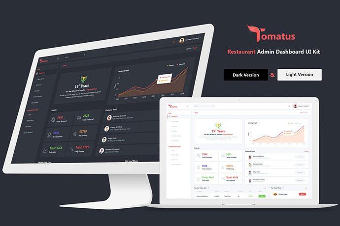 Tomatus - Restaurant Admin Dashboard UI Kit