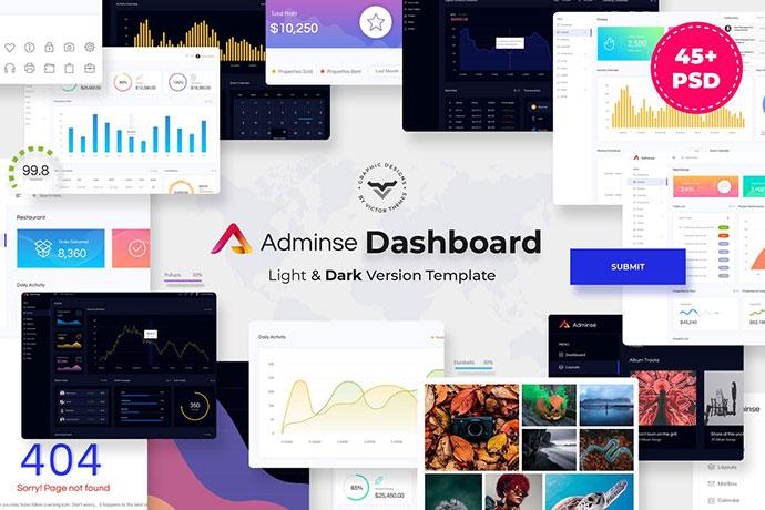 Adminse - Dashboard for Admin PSD Template