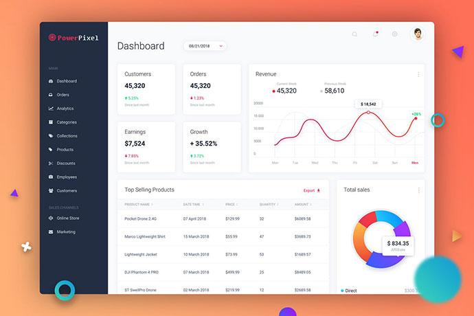 Dashboard UI Concept - Light Theme