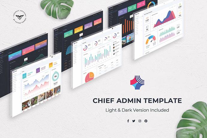 Chef - Admin Dashboard PSD Template