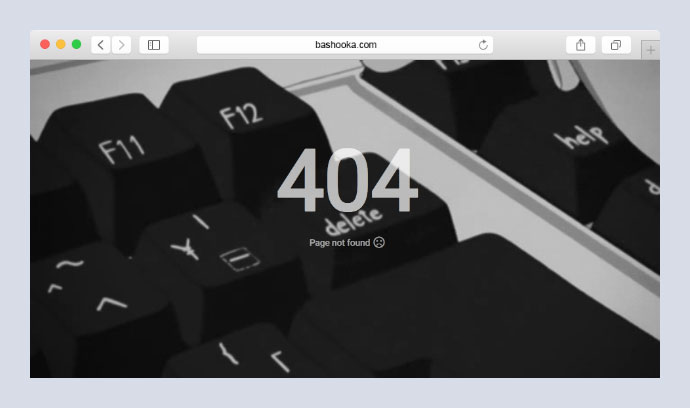 404 error page with full screen gif background