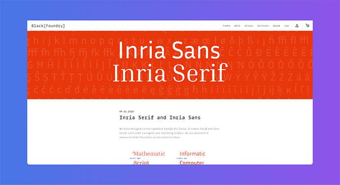 Inria Serif and Inria Sans