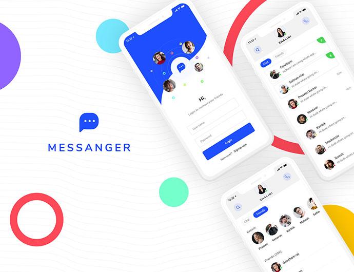 Messanger UI kit free for XD