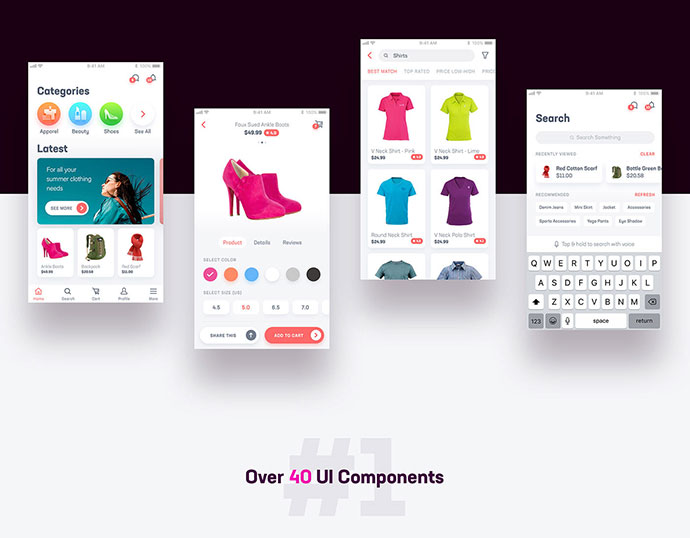 40 Free Adobe XD UI Kits For Web & Mobile – Bashooka