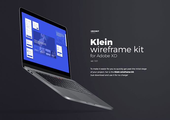 Klein wireframe kit for Adobe XD - Free