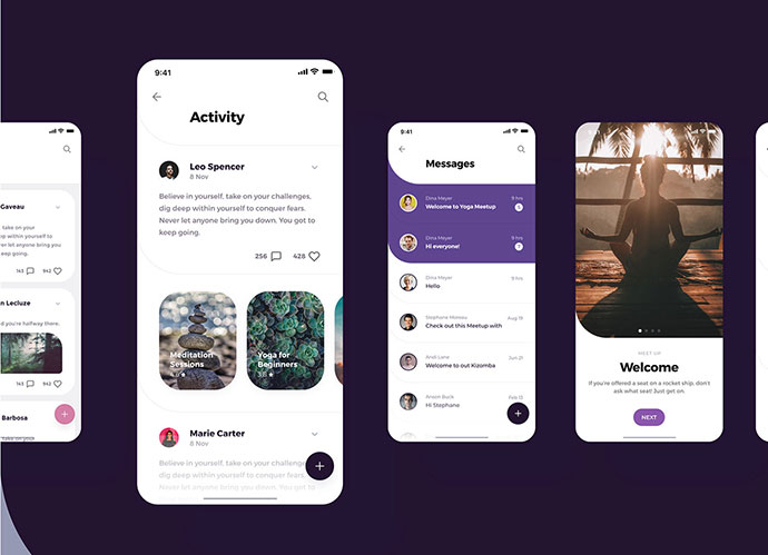 Social Meet Up UI Kit FREE for Adobe XD