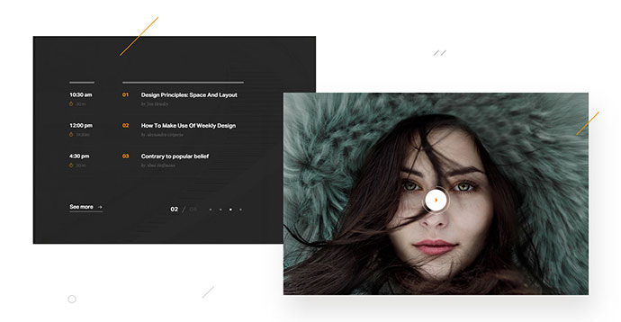 Dese Landing Page Adobe XD Template - Freebie