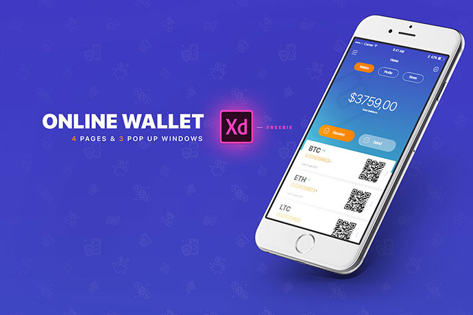 E-Wallet | Adobe XD | FREE