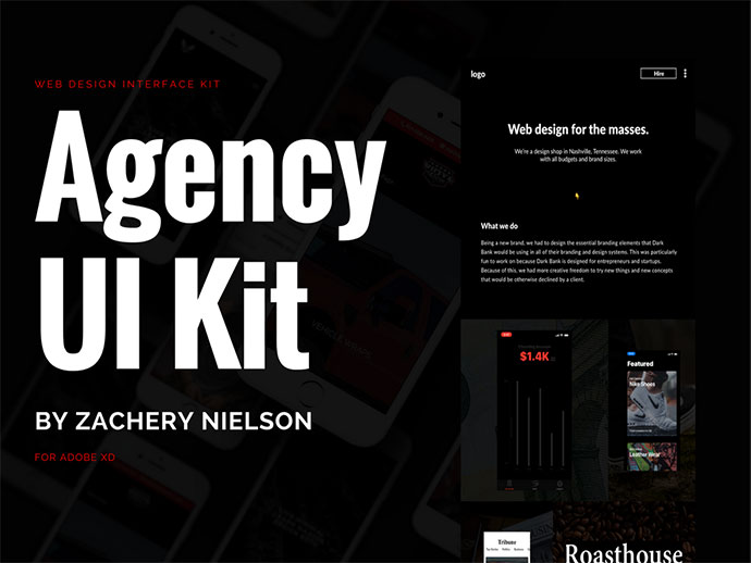 Adobe XD Agency Website UI Kit
