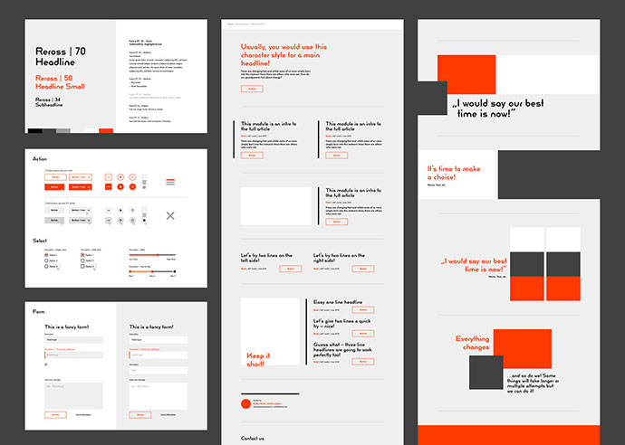Bauhaus Inspired UI kit for Adobe XD
