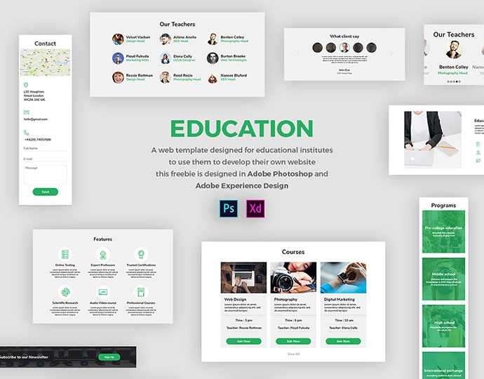 Adobe XD Freebie-EDUCATION