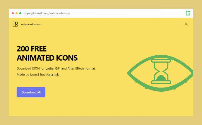 200 Free Animated Icons