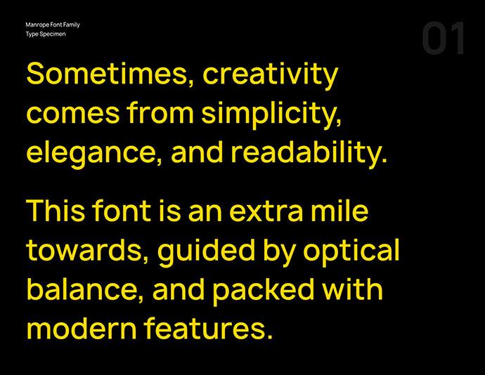 Manrope – Modern Geometric Sans-Serif font family(FREE)