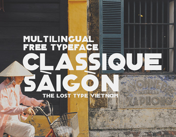 Classique Saigon Typeface (Free & Multilingual)