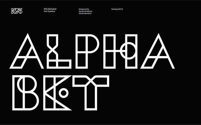 K95 Alphabet - Free font