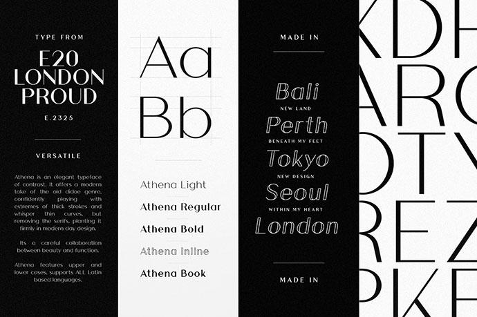 Athena Font Family (Free Download)