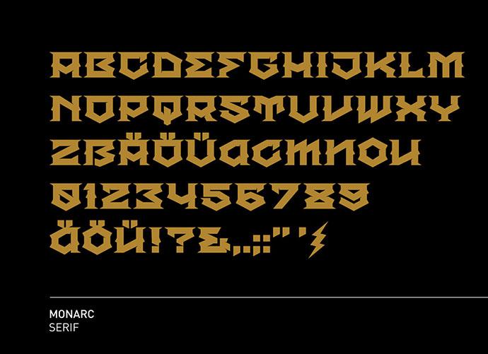 MONARC free font