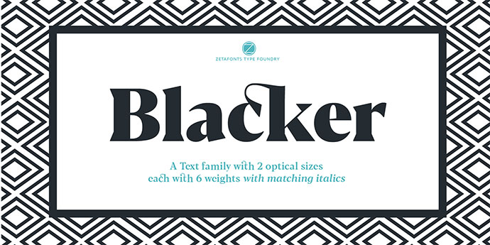 Blacker, text family with two FREE FONTS