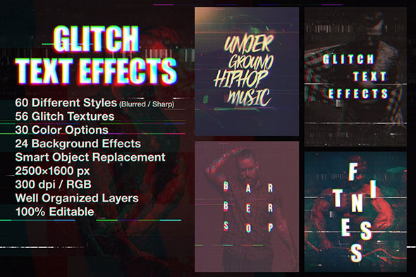 Glitch Text Effects