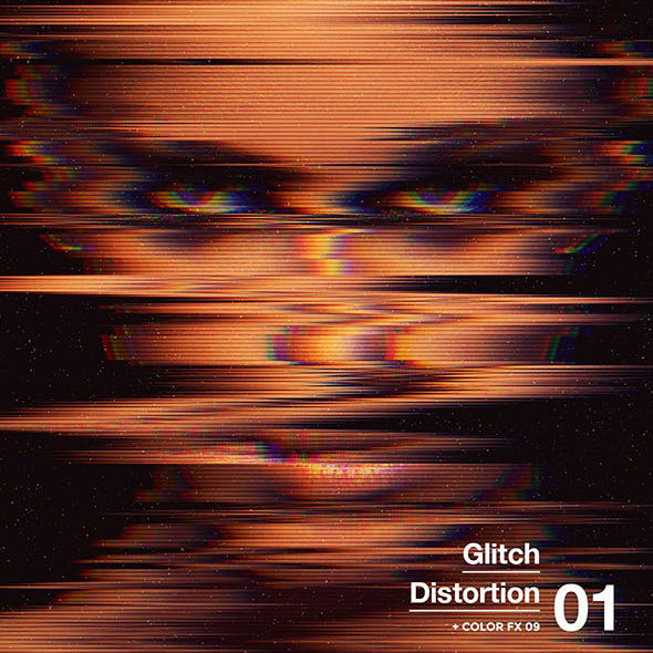 Glitch Distortion Photoshop Action