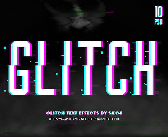 Glitch Text + Glitch Background FX