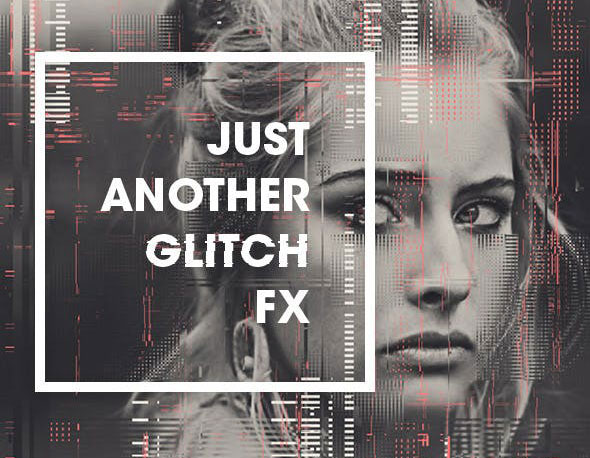 25 Amazing Image & Text Glitch Effect Photoshop Actions