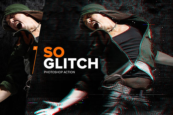 SoGlitch Photoshop Action