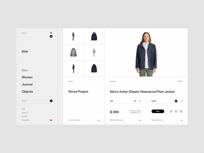 Norse Store. Product card.