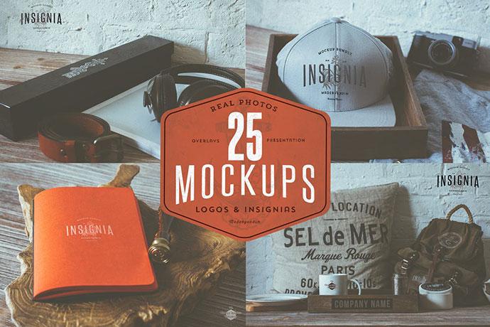 25 Hip Logo Overlay Mock-Ups