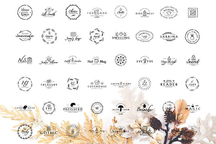 50 Hand Drawn Logos