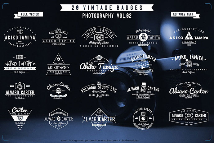 Vintage Badge Photography