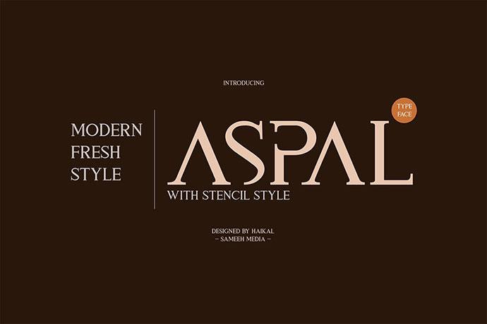 Aspal Typeface Font