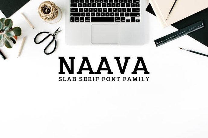 Naava A Slab Serif Font Family