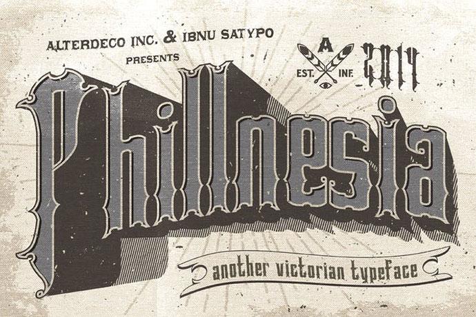 Phillnesia Typeface