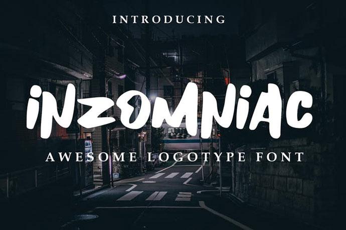 Inzomniac Logotype Font