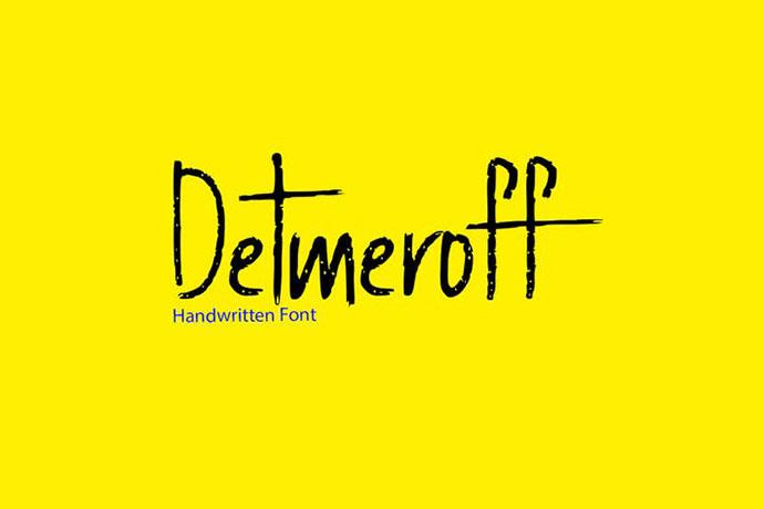 Detmeroff - Unique Handwritten / Display Font