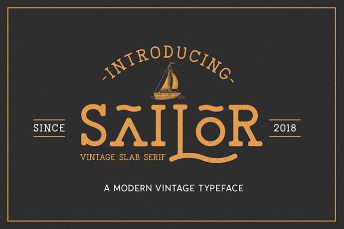 The Sailor Vintage Typeface