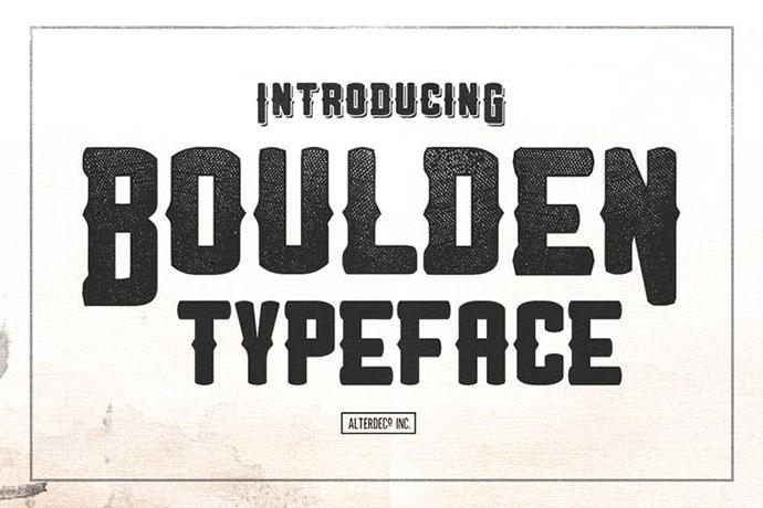 Boulden Typeface