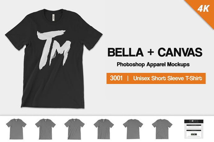 Bella Canvas 3001 Mockups