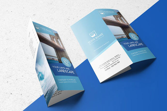 US Letter | Tri-Fold Brochure Mock-up