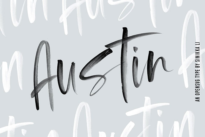 Austin |SVG Brush Font